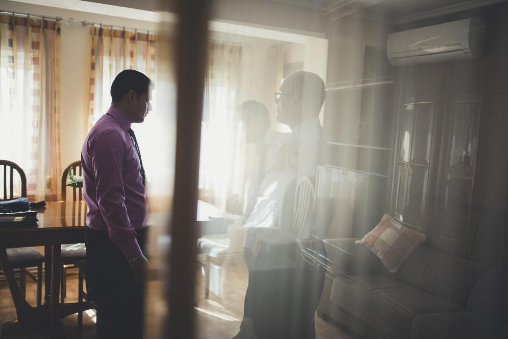 familia de la novia en casa