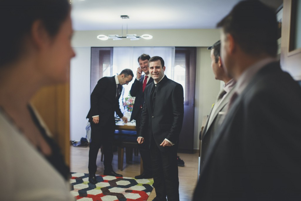 novio momentos antes de la boda