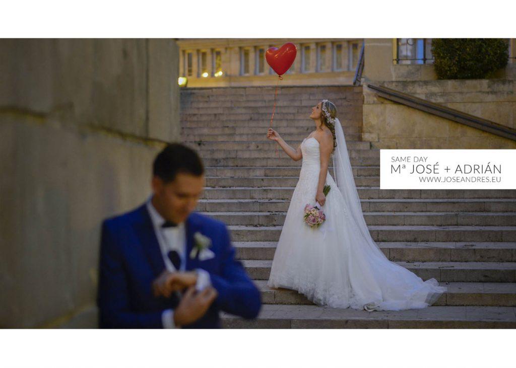 SAME DAY EDIT BODA EN ALBACETE CATEDRAL MJOSE Y ADRIAN boda en hotel Beatriz de Albacete